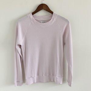 Aritzia Tna Pink Thermal Waffle Knit Top Size XXS